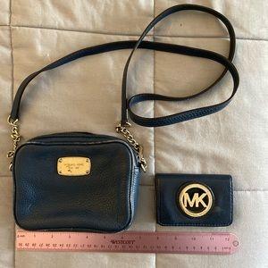 Crossbody purse and wallet set